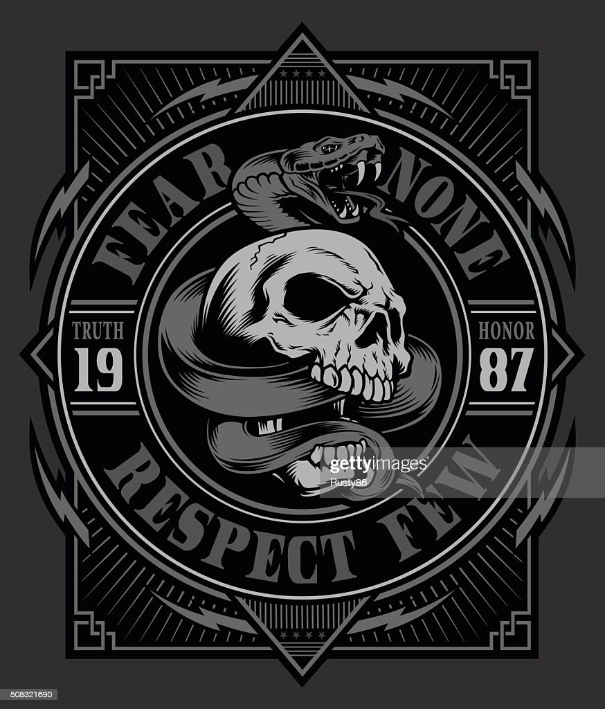Snake skull graphic design