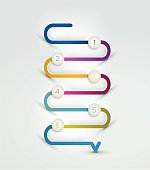 Snake speech bubble template. Infographics elements.