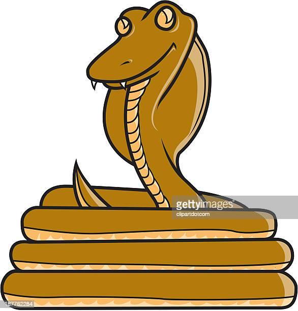 ilustraciones, imágenes clip art, dibujos animados e iconos de stock de serpiente - cobra