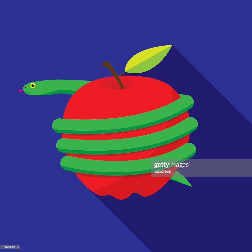 Snake Wrapped Around Apple