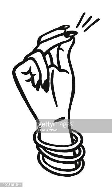 指を鳴らす - ブレスレット点のイラスト素材/クリップアート素材/マンガ素材/アイコン素材
