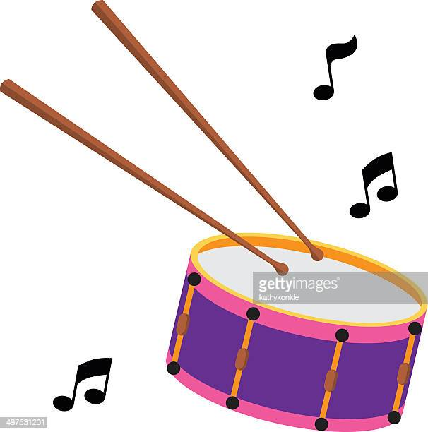 snare drum and drumsticks - snare drum stock illustrations, clip art, cartoons, & icons