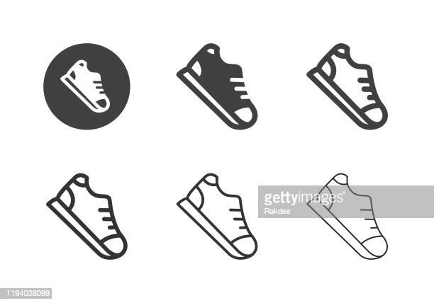 sneaker icons - multi series - instructor stock illustrations