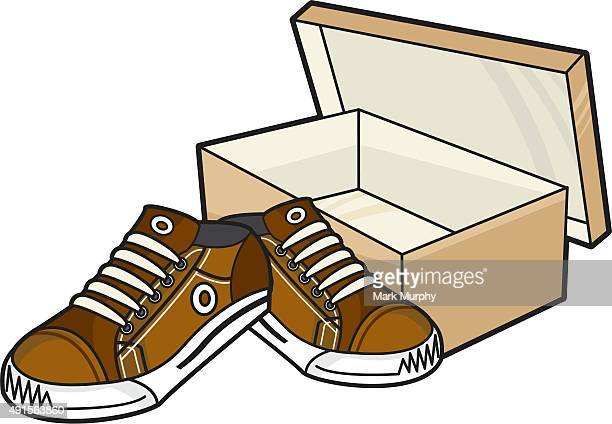 Sneakers and Shoe Box
