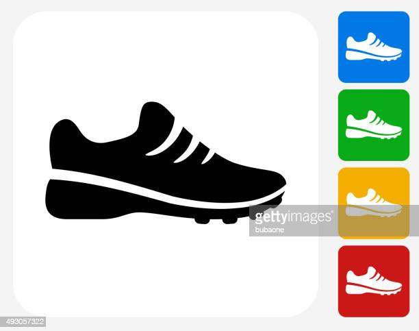 Sneakers Icon Flat Graphic Design