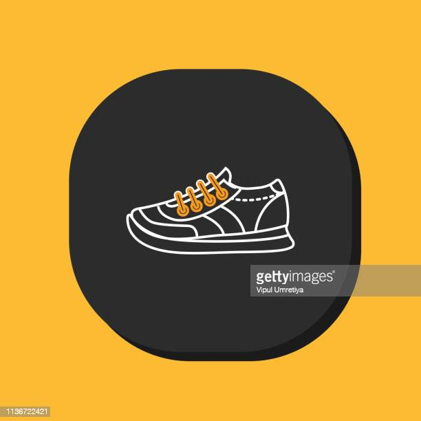 stockillustraties, clipart, cartoons en iconen met sneakers icoon - military