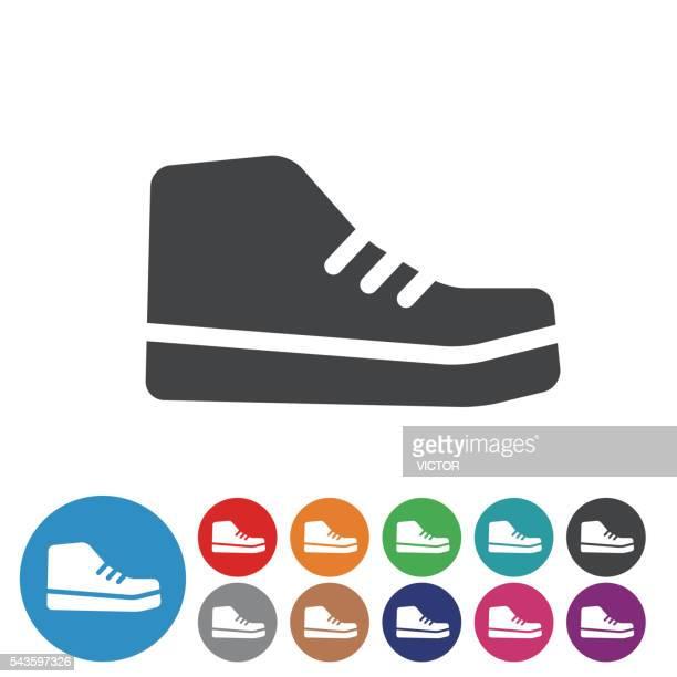 stockillustraties, clipart, cartoons en iconen met sneakers icons - graphic icon seriesa - military