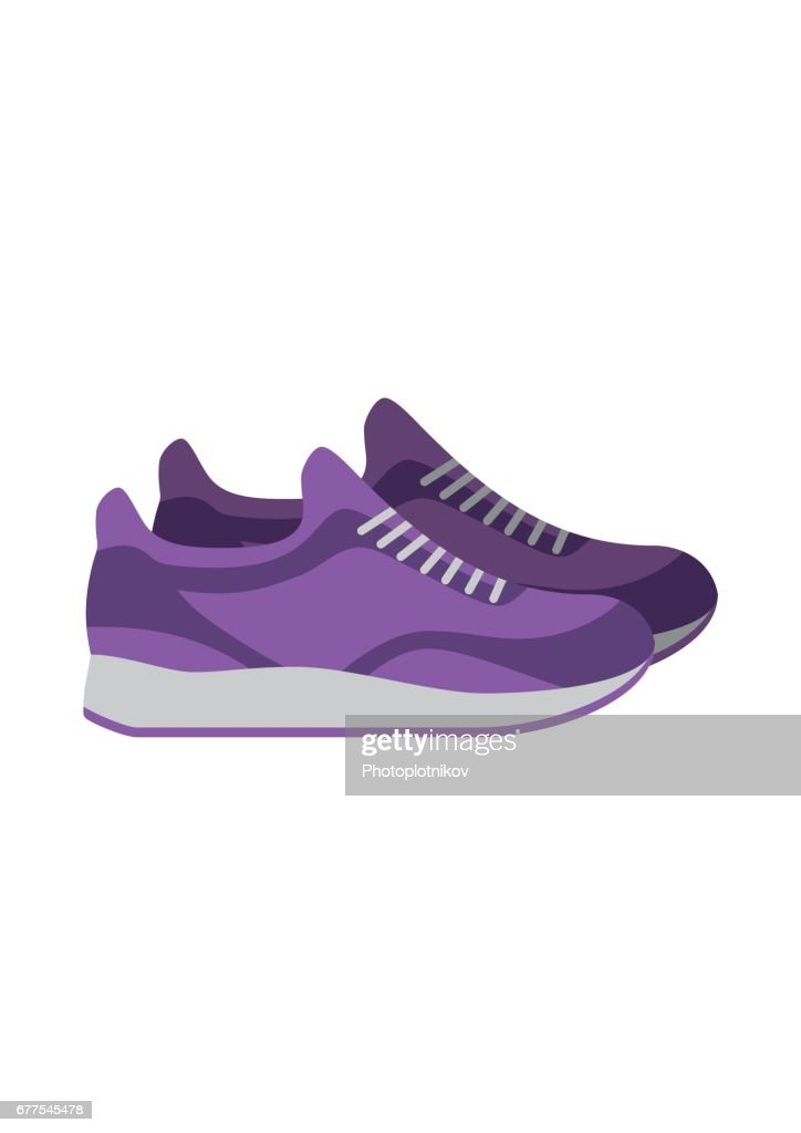 Sneakers, sport shoes isolated on white background. footwear for sport and casual look