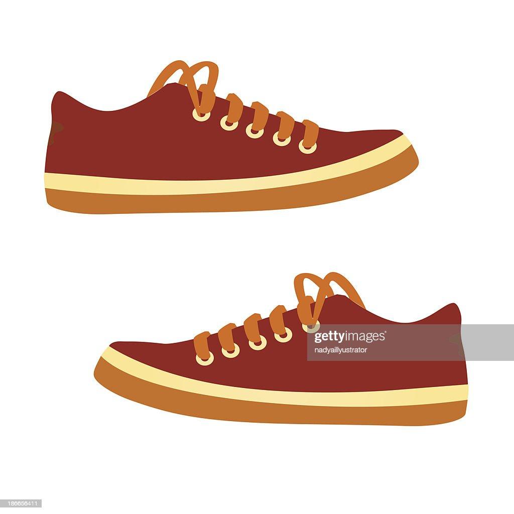 sneakers. Vector cartoon.