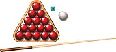 Snookers ball and stick