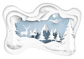 Snow and winter season with nature landscape background