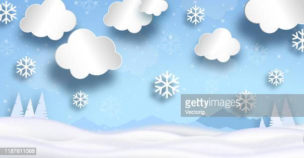 snow field with snowfall - happy new month stock illustrations