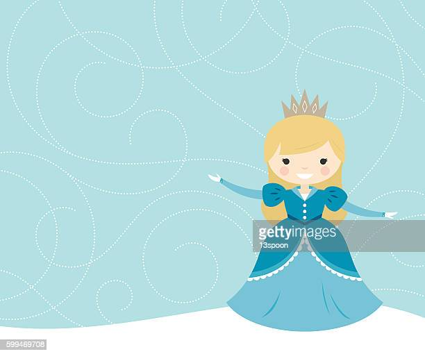 snow flurry princess - princess stock illustrations, clip art, cartoons, & icons
