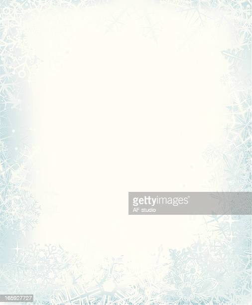 snow  frame - frost stock illustrations, clip art, cartoons, & icons