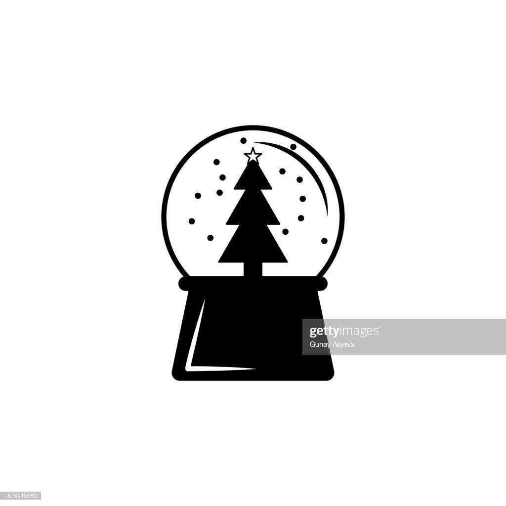 d7fefb399503e snow globe ball new year chrismas icon. Winter element. Premium quality  graphic design. Signs