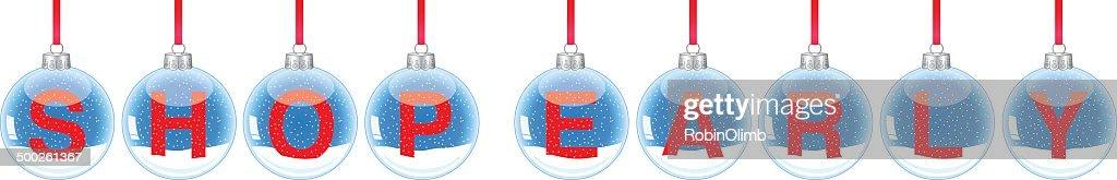 Snow Globe Ornaments Shop Early