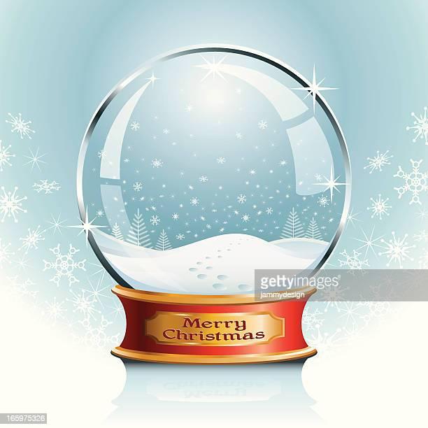 snow globe - snowing stock illustrations
