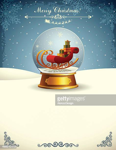 Snow Globe with Santa Claus Sleigh