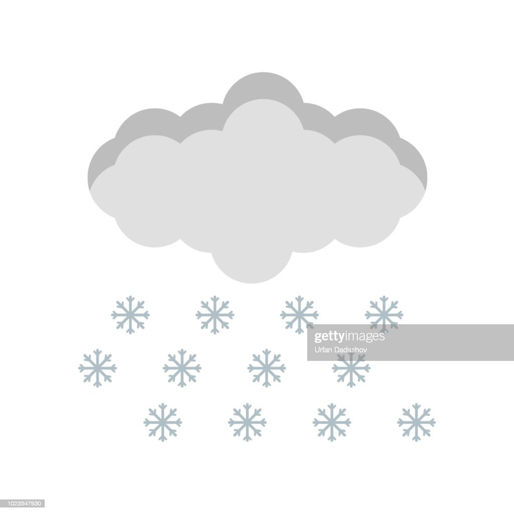 Snow icon vector sign and symbol isolated on white background, Snow logo concept