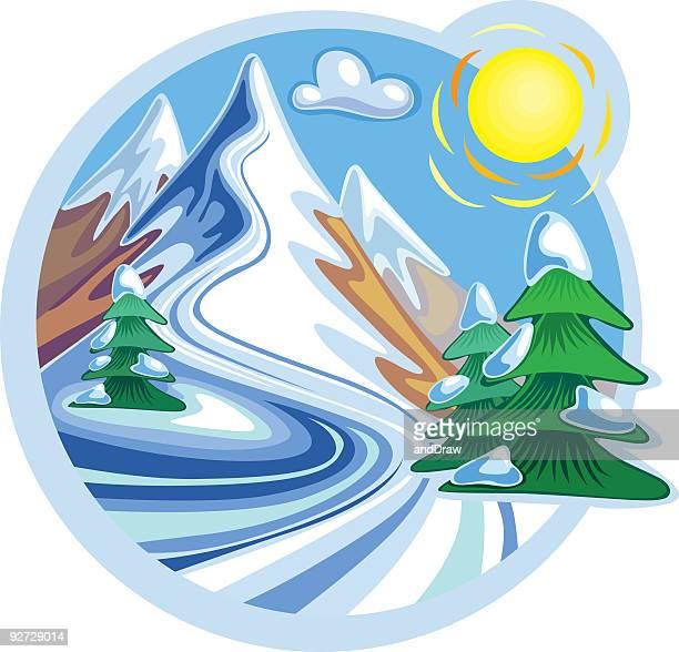 Snow Mountain picos y sol