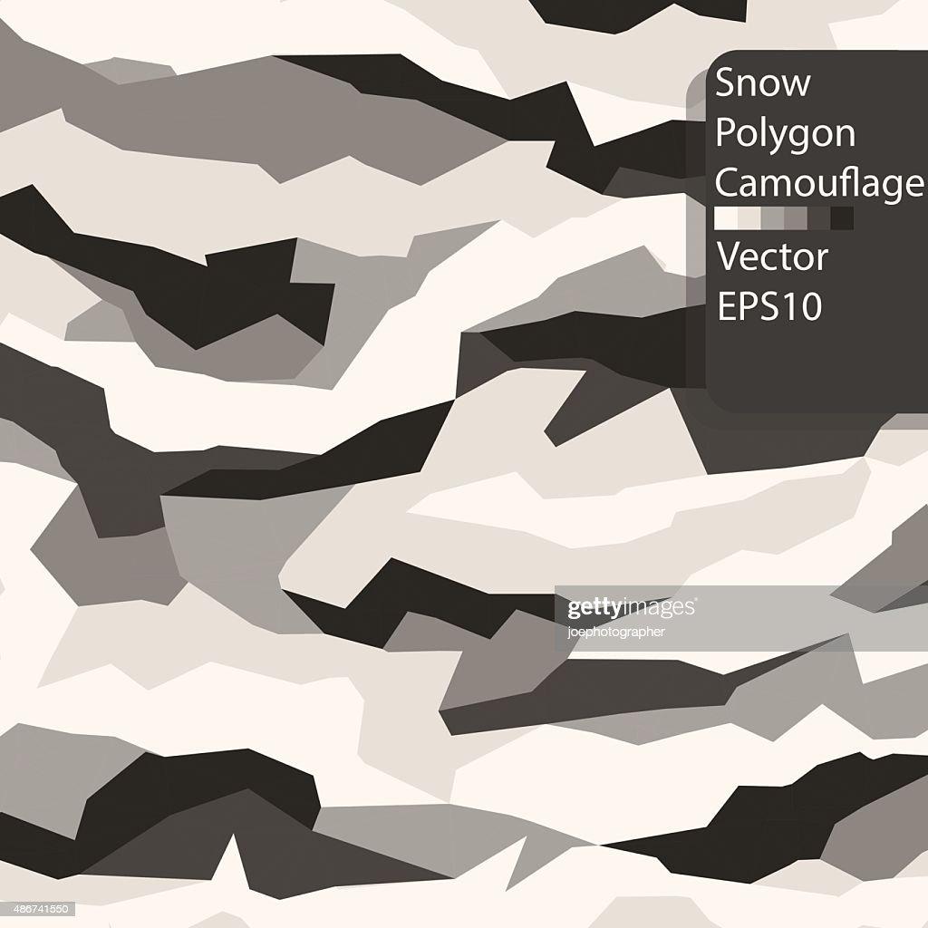 Snow Polygon Camouflage pattern.