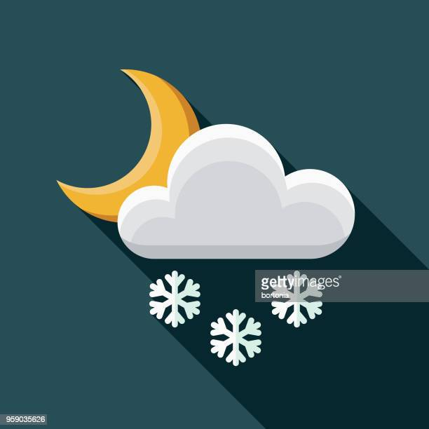 snow rain flat design weather icon with side shadow - sleet stock illustrations, clip art, cartoons, & icons