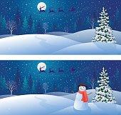 Snow scene backgrounds