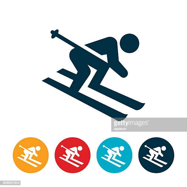 Snow Skiing Icon