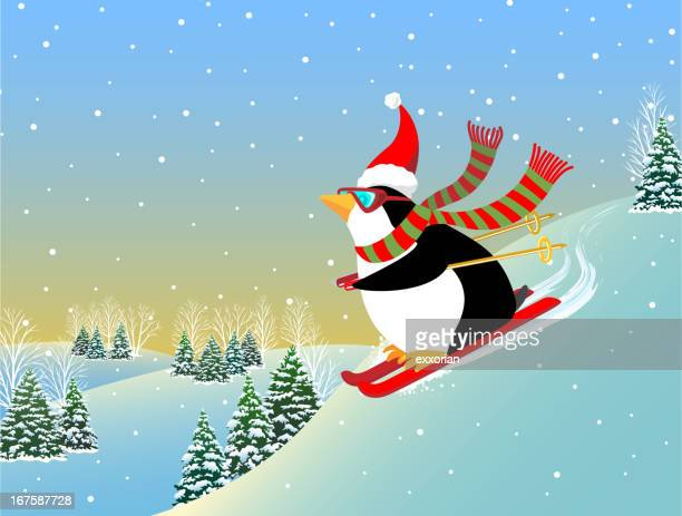 Snow Skiing Penguin