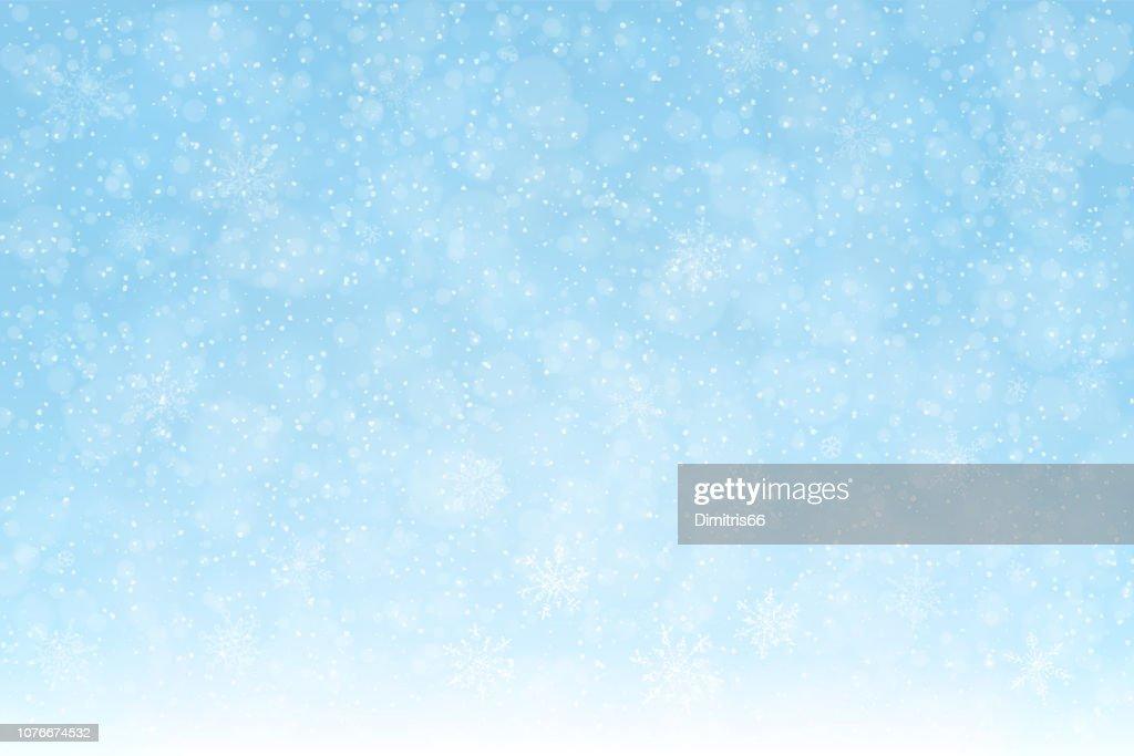 snow_background_snowflakes_softblue_2_expanded : stock illustration