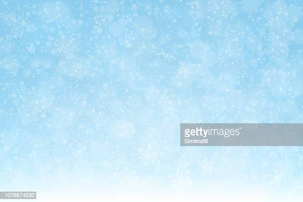 snow_background_snowflakes_softblue_2_expanded - cold temperature stock illustrations