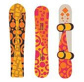 Snowboard sport boards elements