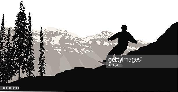 snowboard white - ski slope stock illustrations, clip art, cartoons, & icons