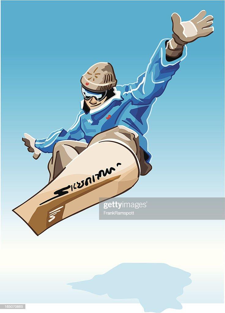 Snowboarder Blau : Stock-Illustration