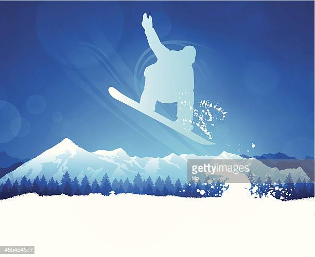 snowboarder - competitive sport stock illustrations, clip art, cartoons, & icons