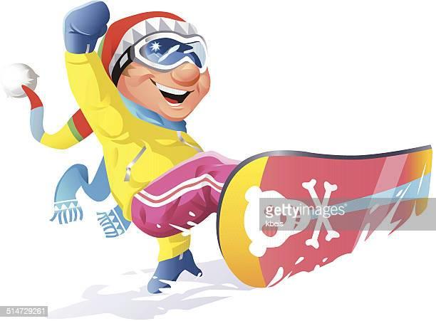 illustrations, cliparts, dessins animés et icônes de snowboard - ski humour