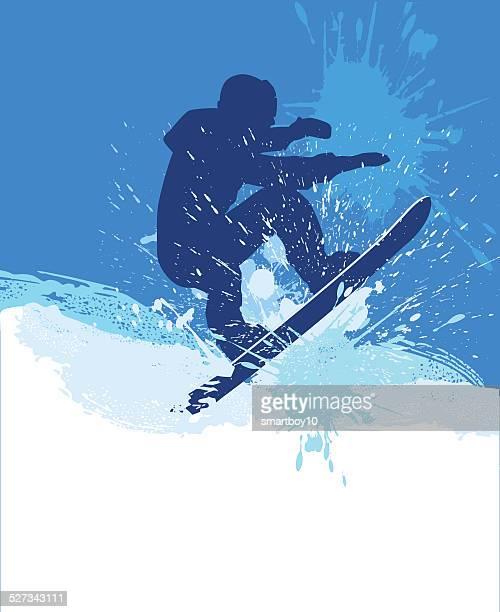 ilustrações, clipart, desenhos animados e ícones de snowboarding - esportes extremos