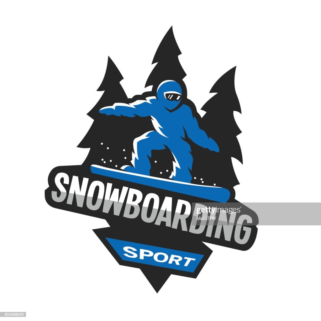 Snowboarding winter sports, symbol, emblem.
