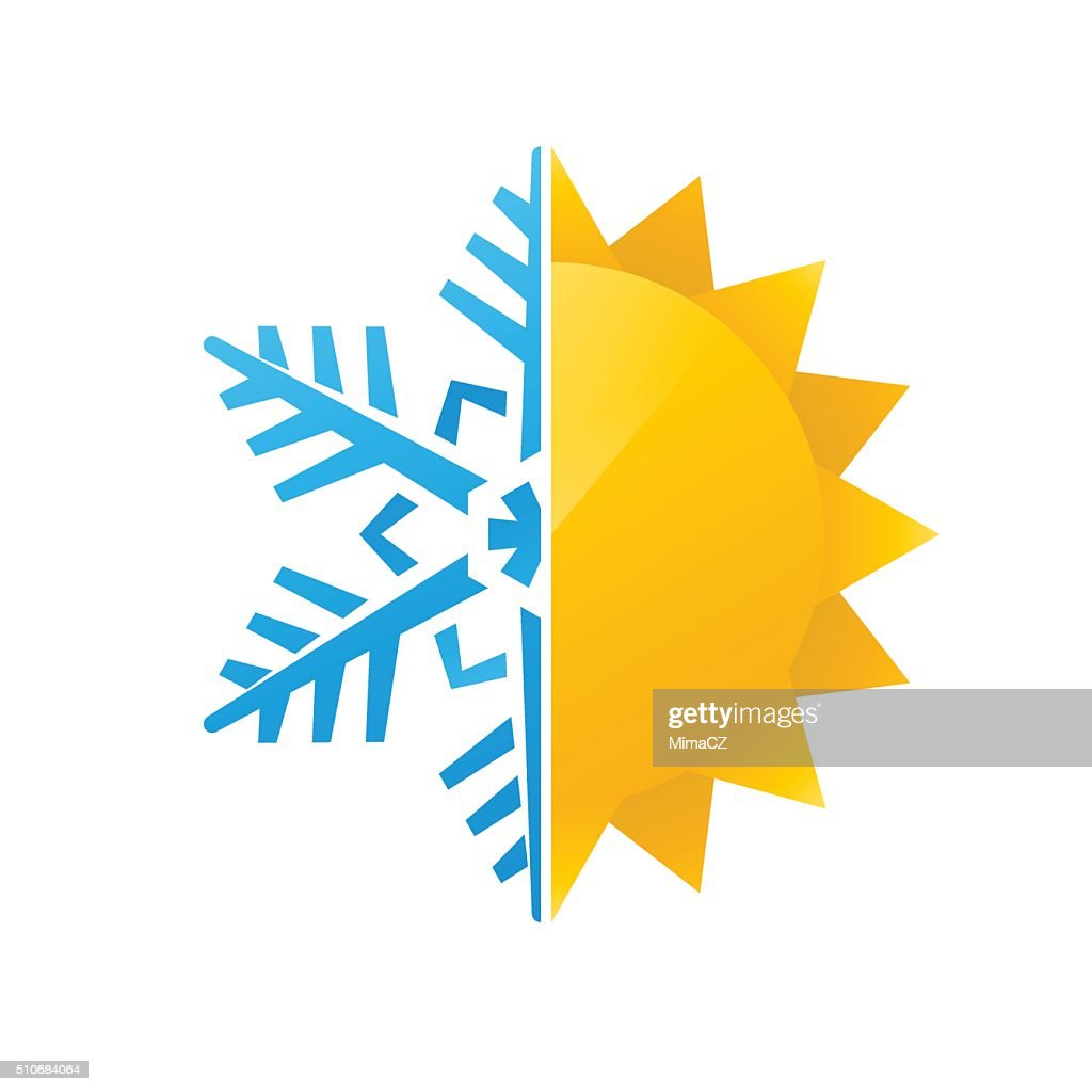 snowflake and sun icon