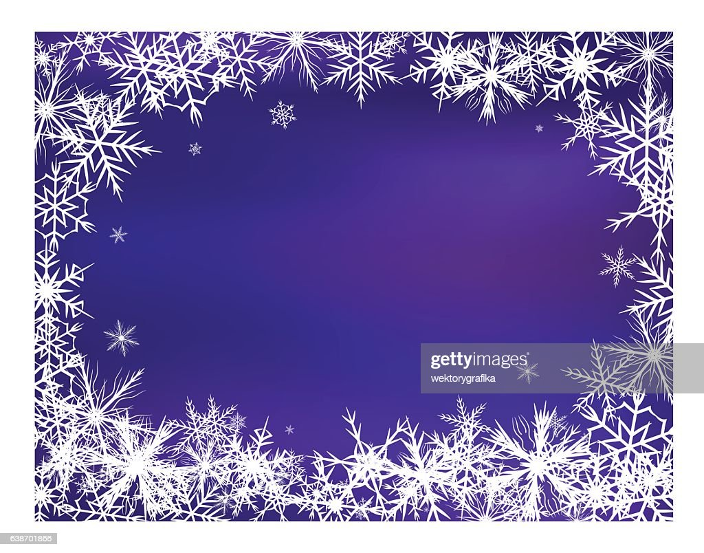 Snowflake Background Beautiful Banner Wallpaper Design Illustrat High Res Vector Graphic Getty Images