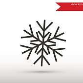 Snowflake black icon vector and jpg. Flat style object. Art