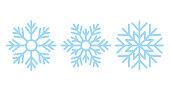 Snowflake. Christmas icon. Vector illustration in flat design.