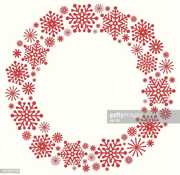 Snowflake Christmas Wreath in Silhouette