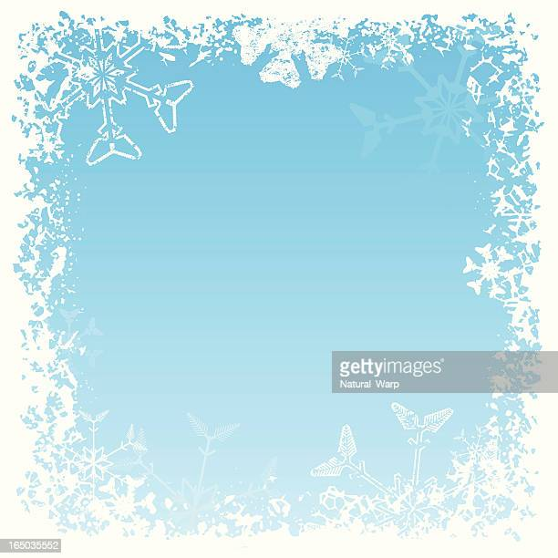 snowflake frame 03 - frost stock illustrations, clip art, cartoons, & icons