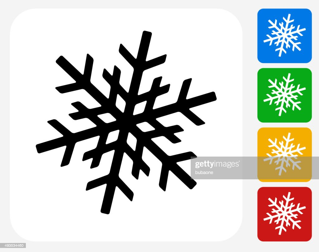 Snowflake Icon Flat Graphic Design stock illustration - Getty Images