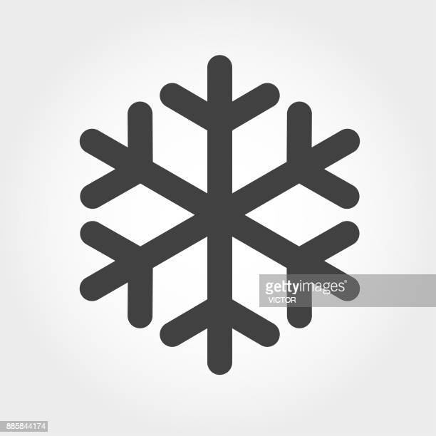 snowflake icon - iconic series - cold temperature stock illustrations