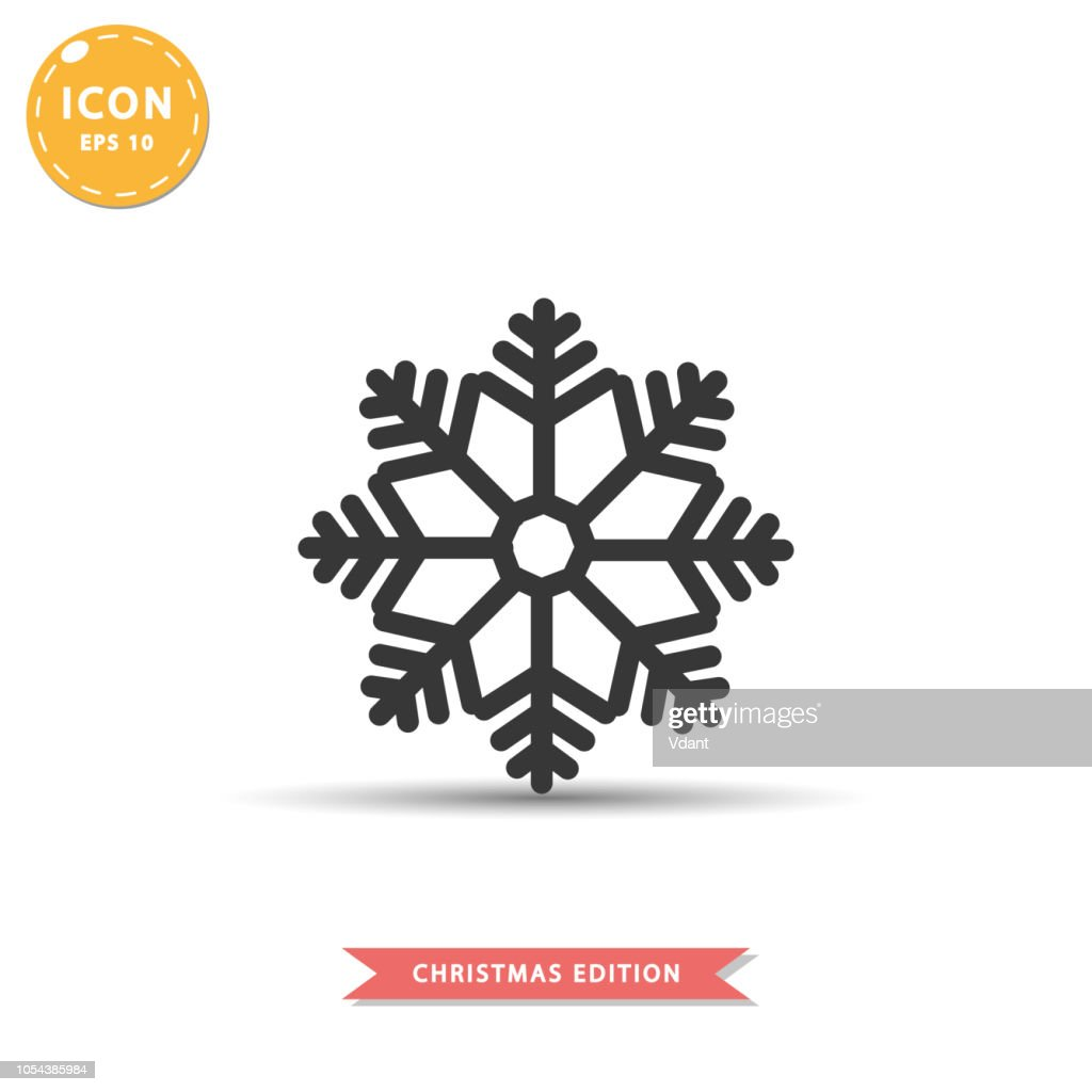 Snowflake icon simple flat style vector illustration.