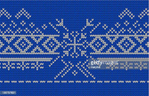 snowflake, knitted norwegian pattern - sweater stock illustrations, clip art, cartoons, & icons