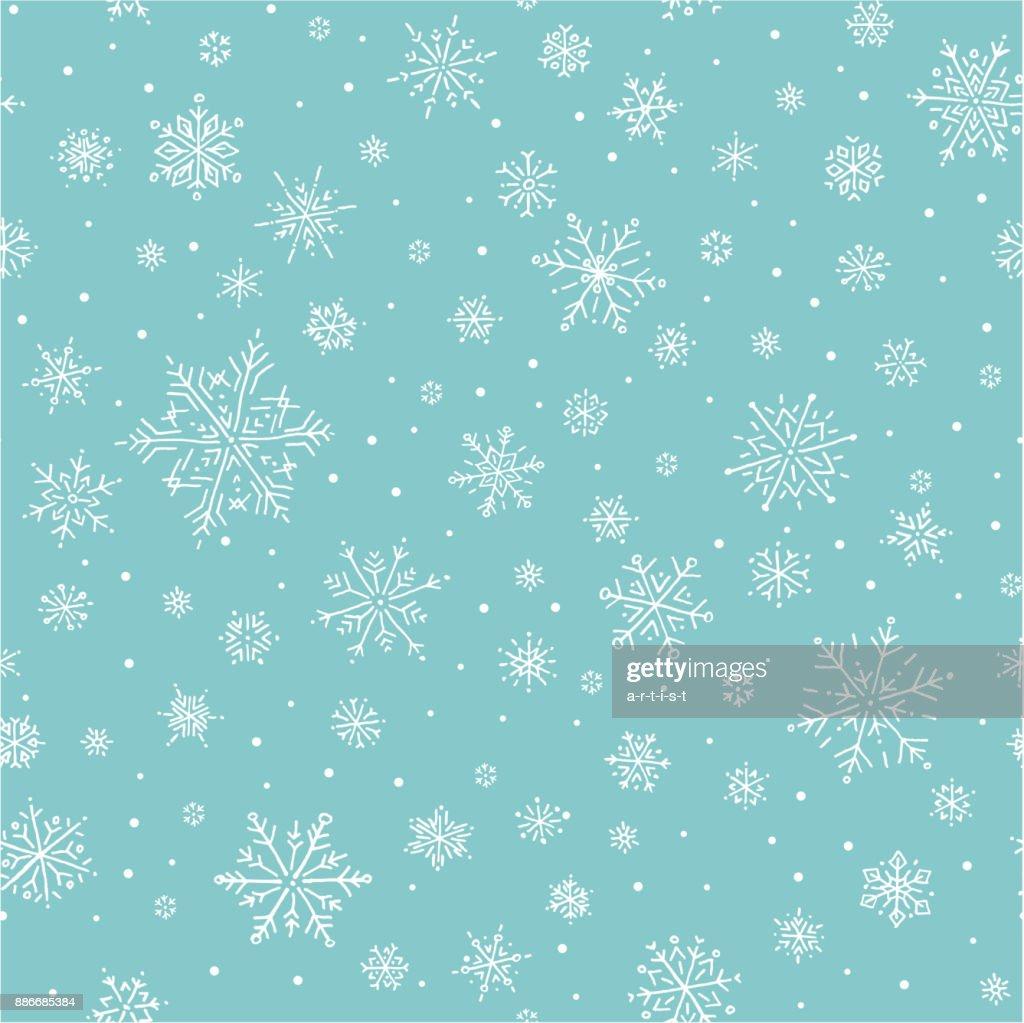 Schneeflocken-Muster : Stock-Illustration