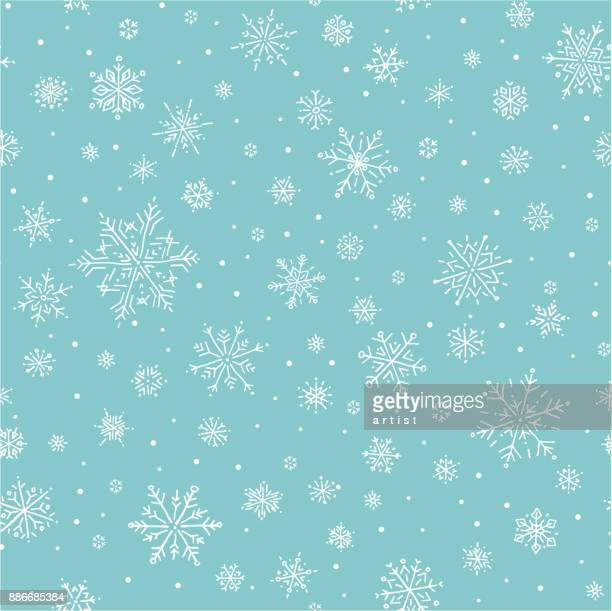 snowflake pattern - blizzard stock illustrations